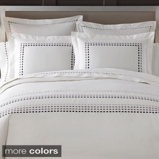 Ombre Box Embroidered 300 Thread Count Duvet Cover with Sham Options Sold Separate