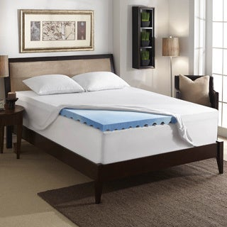 Bodipedic 3-inch Gel Memory Foam Wave Mattress Topper with Cover