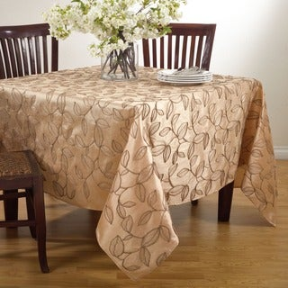 Polyester 84-inch Leaf Design Tablecloth