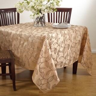 Polyester 84-inch Leaf Design Tablecloth