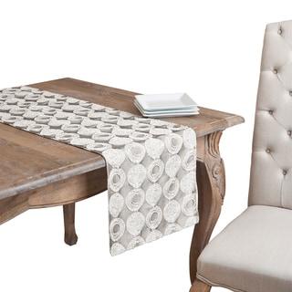 Polyester Circle Design Table Linens