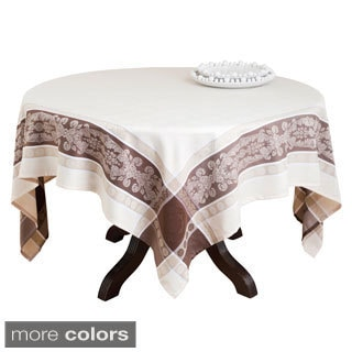Polyester Jacquard 72-inch Square Tablecloth
