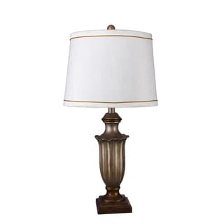 Fangio Lighting's 28-inch Resin Table Lamp with Antique Silver Finish