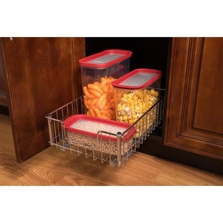 Trinity EcoStorage Space Saver Chrome Wide Wire Drawer with Slides
