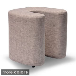 Domino Linen U-Shaped Ottoman