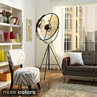 Expanse Modern Floor Lamp with Black Shade