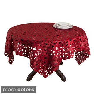 Embroidered Cutwork 72 x 72 inche Tablecloth