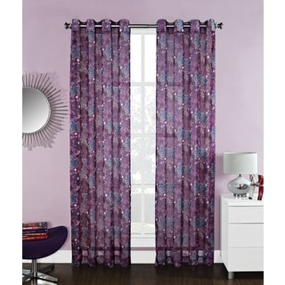'Diva' Star 84inch Grommet Curtain Panel Pair
