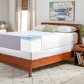 Select Luxury Swirl Gel Memory Foam 14-inch Queen-size Medium Firm Mattress Set with EZ Fit Foundation