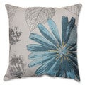 Pillow Perfect Blue Daisy 18-inch Throw Pillow