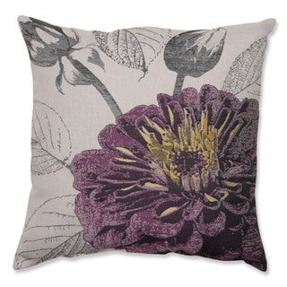 Purple Rose 18-inch Throw Pillow