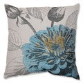 Blue Rose 18-inch Throw Pillow