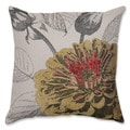 Yellow Rose 18-inch Throw Pillow