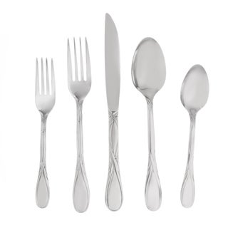 Soft Shine Stainless 45 Piece Flatware Set