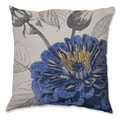 Dark Blue Rose 18-inch Throw Pillow