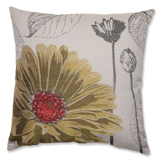 Yellow Chrysanthemum 18-inch Throw Pillow