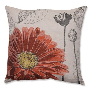 Orange Chrysanthemum 18-inch Throw Pillow