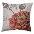 Orange Rose 18-inch Throw Pillow