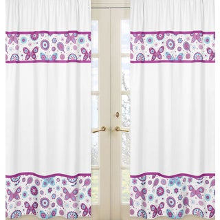 Spring Garden 84 inch Curtain Panels (Set of 2)