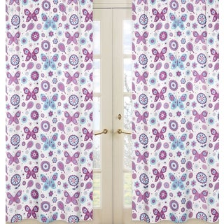 Spring Garden Print 84 inch Curtain Panels (Set of 2)