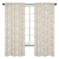 Blue/Taupe Hayden 84 inch CurtainPanels (Set of 2)