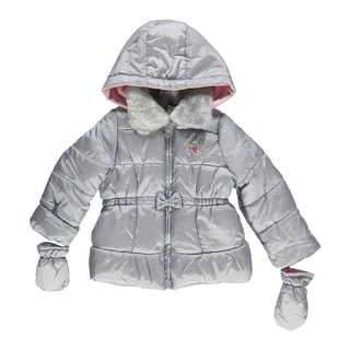 Little Me Bow & Rose Insulated Jacket