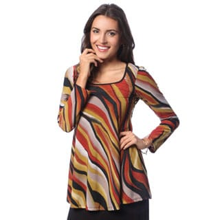 24/7 Comfort Apparel Women's Long-sleeve Tunic