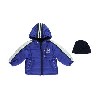 London Fog Boys 54 Banner Insulated Jacket and Hat