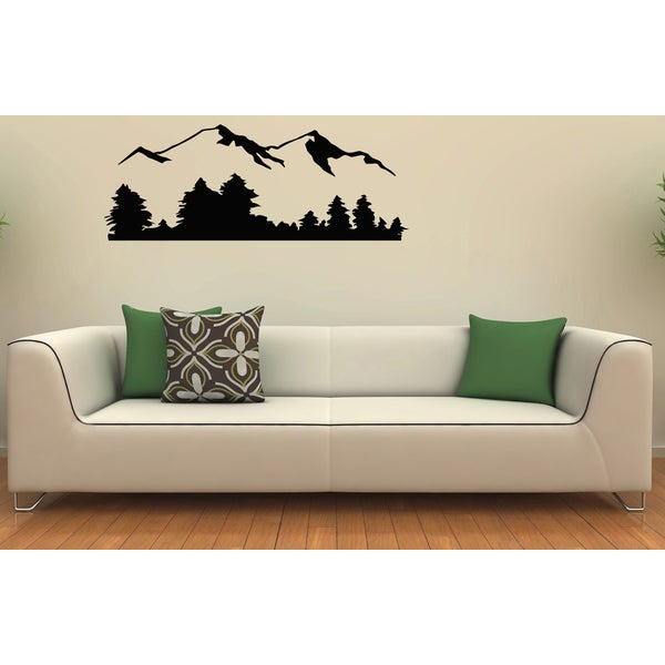 Mountain Range Vinyl Wall Decal