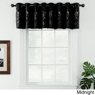 Ganset Chenille Leaf Valance Pair with Grommets