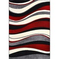 New Wave Wavy Stripe Abstract Rug