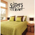 'Sisters By Heart' Vinyl Wall Decal