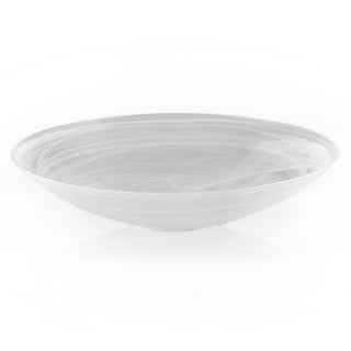 White 15-inch Alabaster Bowl