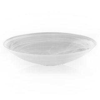 White 15-inch Alabaster Bowl