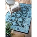 nuLOOM Handmade Persian Overdyed Blue Wool Rug (5' x 8')