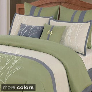 'Taylor' 8-piece Embroidered Comforter Set