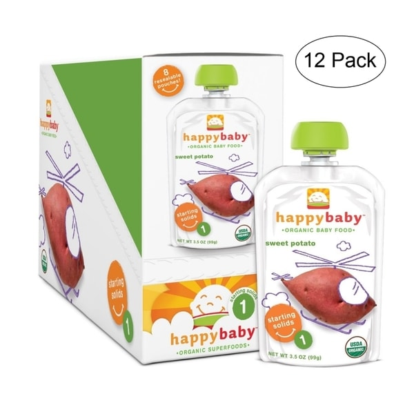 Happy Baby Sweet Potato Stage 1 Food Pouch (12 Pack)