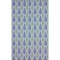 nuLOOM Flatweave Modern Trelis Blue Abstract Wool Rug (7'6 x 9'6)