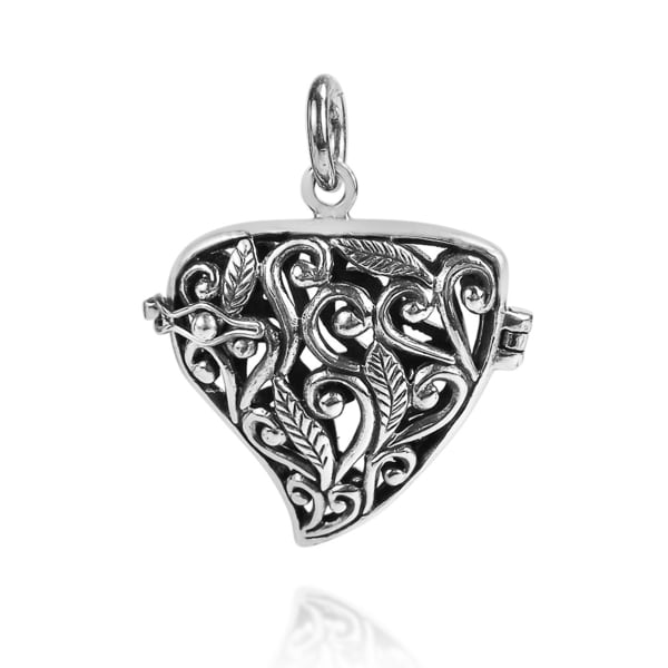 Handmade Eternal Vines .925 Sterling Silver Heart Locket and Pendant (Thailand) 12048965