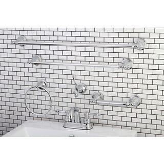 Modern Round Chrome Metal Faucet Towel Rack Bathroom Faucet & Bathroom Accessory Set