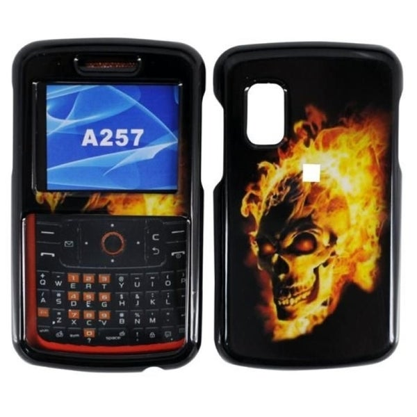 INSTEN Fire Skull Phone Case Cover for Samsung Magnet A257