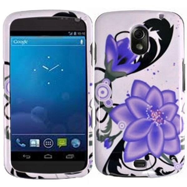 BasAcc Violet Lily Case for Samsung i515 Galaxy Nexus CDMA