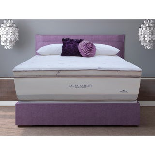 Laura Ashley Periwinkle Euro Pillowtop Super Size Full-size Mattress and Foundation Set