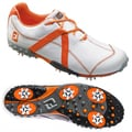 FootJoy Mens M Project Spiked White/ Orange Golf Shoes