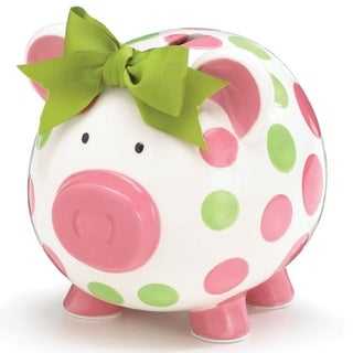 Burton and Burton Bank Pig in Pink Dots