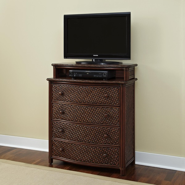 Marco Island Media Chest Refined Cinnamon Finish