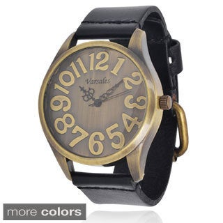 Varsales Women's Antiqued Leather Watch