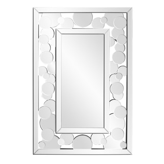 Palace Circular Mirrored Discs Rectangular Mirror