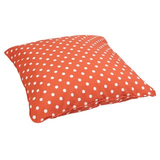 Orange Dots Corded Outdoor/ Indoor Large 28-inch Floor Pillow