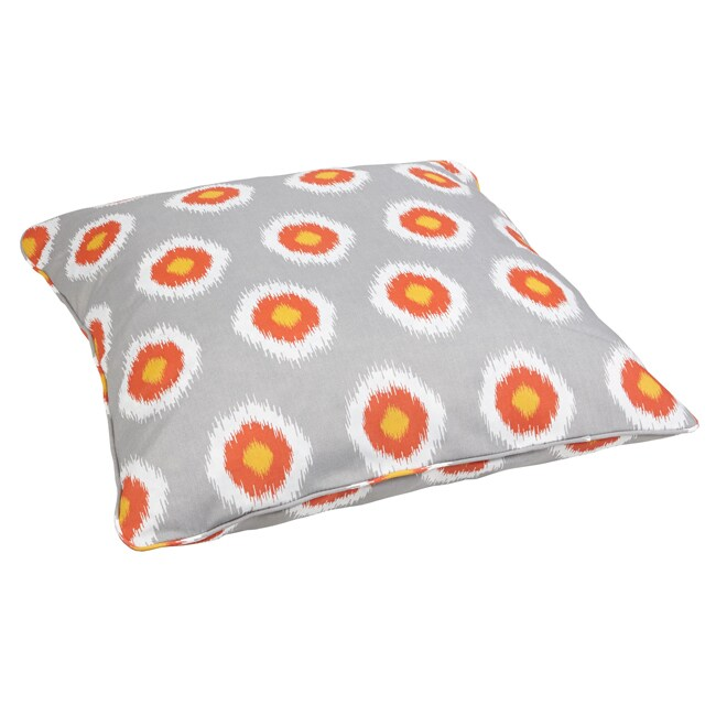 Ikat Citrus Dots Corded Outdoor/ Indoor Large 28-inch Floor Pillow at Sears.com